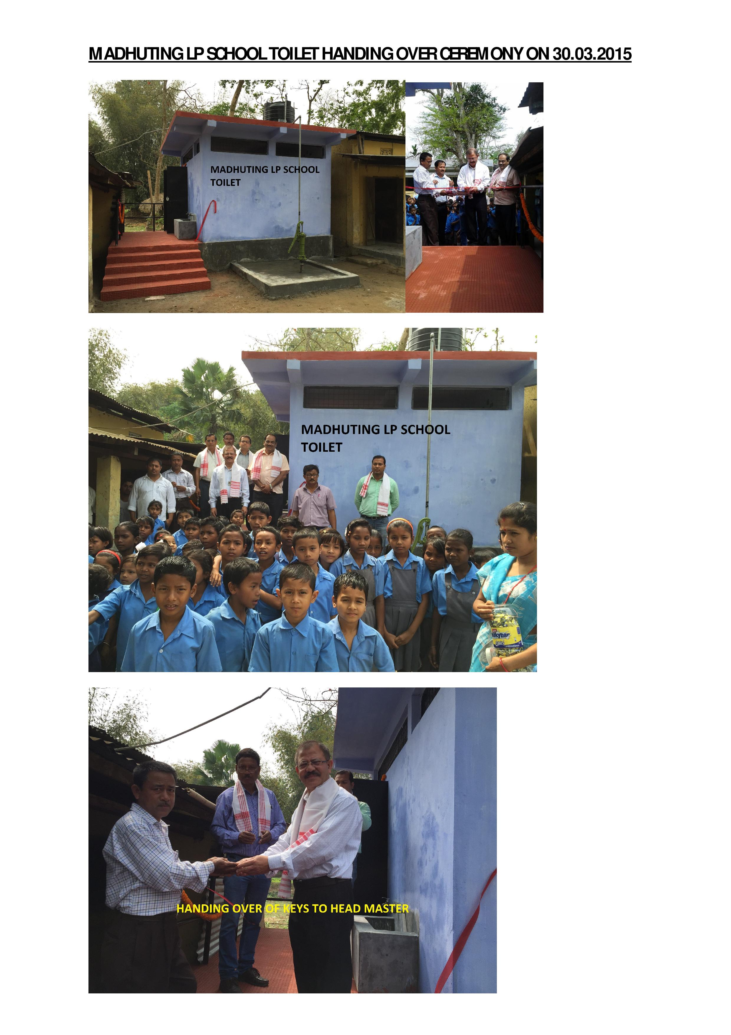MADHUTING LP SCHOOL TOILET HANDING OVER CEREMONY ON 30.03.2015